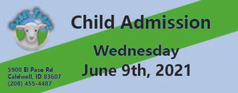 Babby Farms regular child admission 6/9/2021