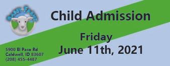 Babby Farms regular child admission 6/11/2021