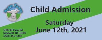 Babby Farms regular child admission 6/12/2021