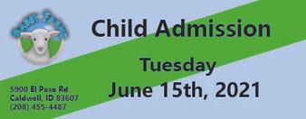 Babby Farms regular child admission 6/15/2021
