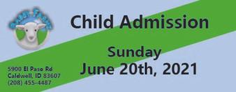 Babby Farms regular child admission 6/20/2021
