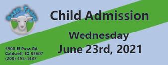 Babby Farms regular child admission 6/23/2021