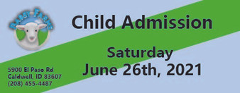 Babby Farms regular child admission 6/26/2021
