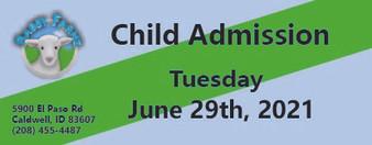 Babby Farms regular child admission 6/29/2021