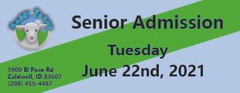 Babby Farms regular senior admission 6/22/2021