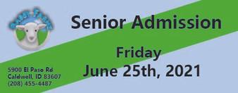 Babby Farms regular senior admission 6/25/2021