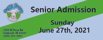 Babby Farms regular senior admission 6/27/2021