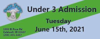 Babby Farms regular under 3 admission 6/15/2021