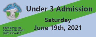 Babby Farms regular under 3 admission 6/19/2021