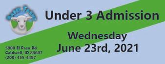 Babby Farms regular under 3 admission 6/23/2021