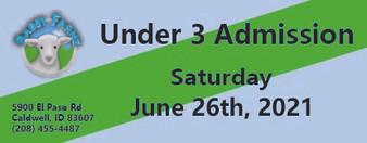 Babby Farms regular under 3 admission 6/26/2021