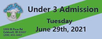 Babby Farms regular under 3 admission 6/29/2021