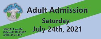 Babby Farms regular adult admission 7/24/2021