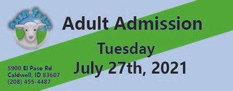 Babby Farms regular adult admission 7/27/2021
