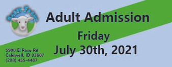 Babby Farms regular adult admission 7/30/2021