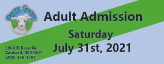 Babby Farms regular adult admission 7/31/2021