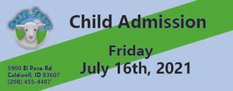 Babby Farms regular child admission 7/16/2021