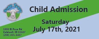Babby Farms regular child admission 7/17/2021