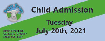 Babby Farms regular child admission 7/20/2021