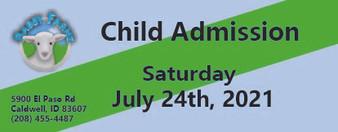 Babby Farms regular child admission 7/24/2021