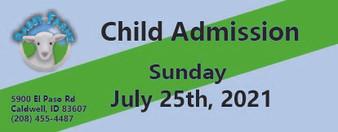 Babby Farms regular child admission 7/25/2021