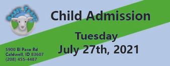 Babby Farms regular child admission 7/27/2021
