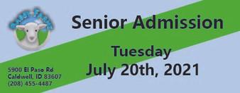 Babby Farms regular senior admission 7/20/2021