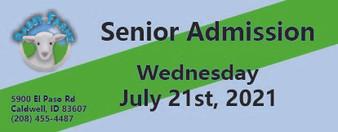 Babby Farms regular senior admission 7/21/2021