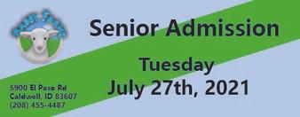 Babby Farms regular senior admission 7/27/2021