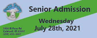 Babby Farms regular senior admission 7/28/2021