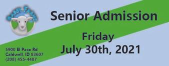 Babby Farms regular senior admission 7/30/2021