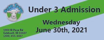 Babby Farms regular under 3 admission 6/30/2021
