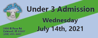 Babby Farms regular under 3 admission 7/14/2021