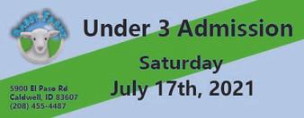 Babby Farms regular under 3 admission 7/17/2021