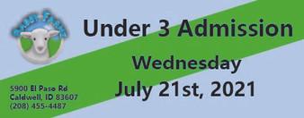Babby Farms regular under 3 admission 7/21/2021