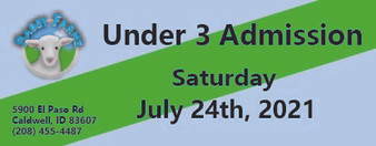 Babby Farms regular under 3 admission 7/24/2021