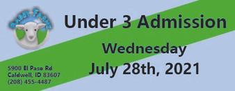 Babby Farms regular under 3 admission 7/28/2021
