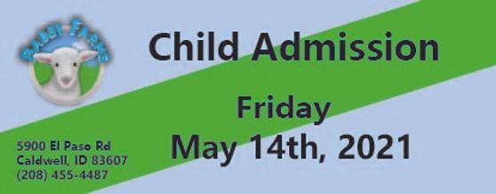 Babby Farms regular child admission 5/14/2021