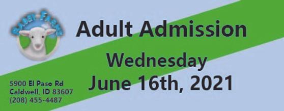 Babby Farms regular adult admission 6/16/2021