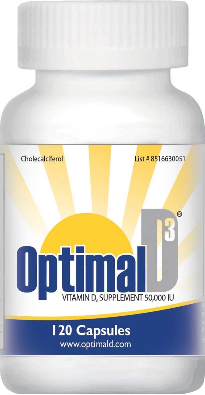 Optimal D3 (50,000 IU) 120 Capsules