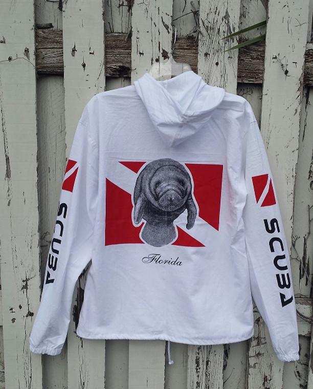 """Unisex """"Manatee"""" Hooded Zippered Jacket"""