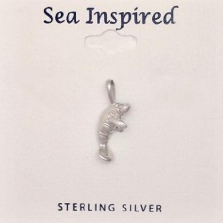 Sterling Silver Manatee Pendant