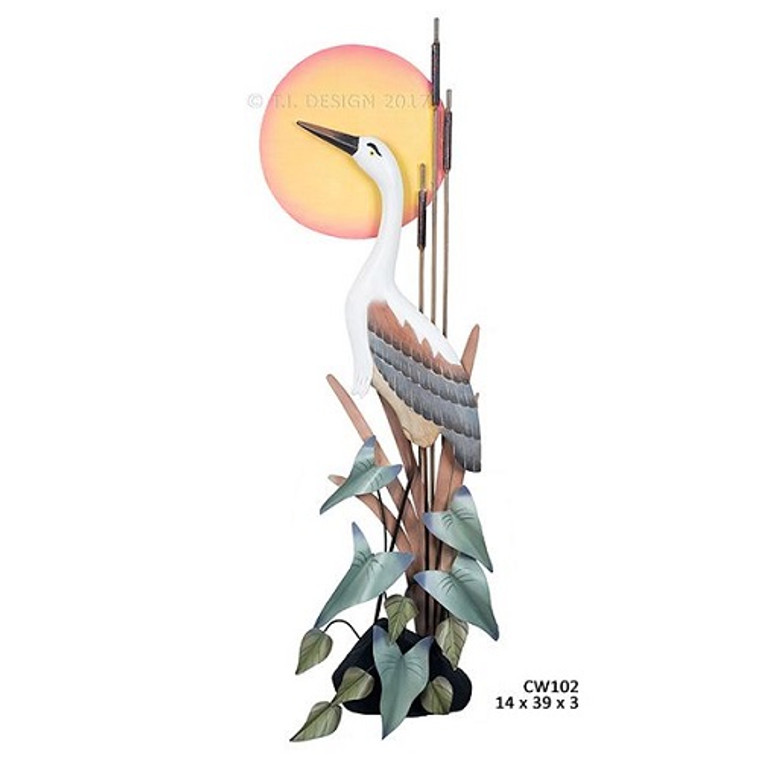 Heron Wall Sculpture