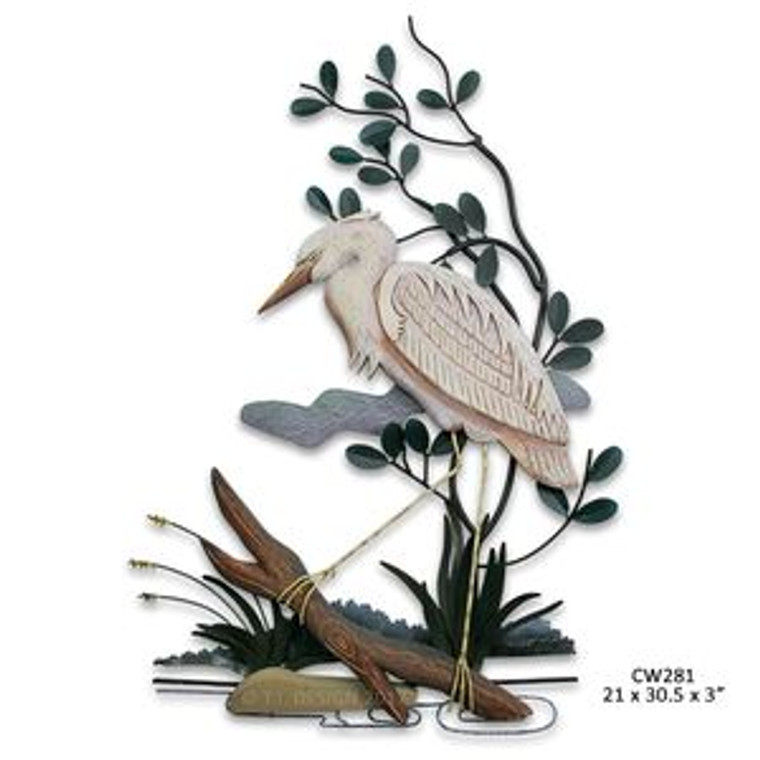 Stalking White Heron