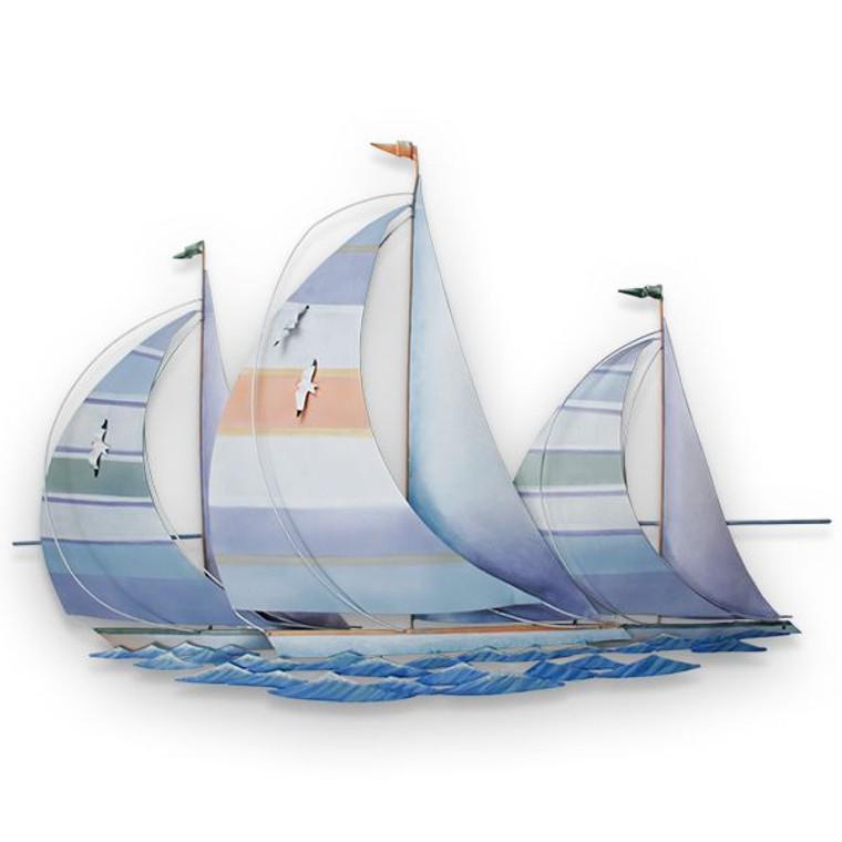 Regatta Metal Sail Boat Wall Art
