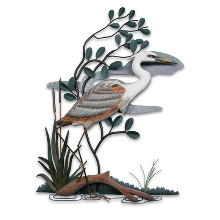 Blue Heron Wall Aculpture