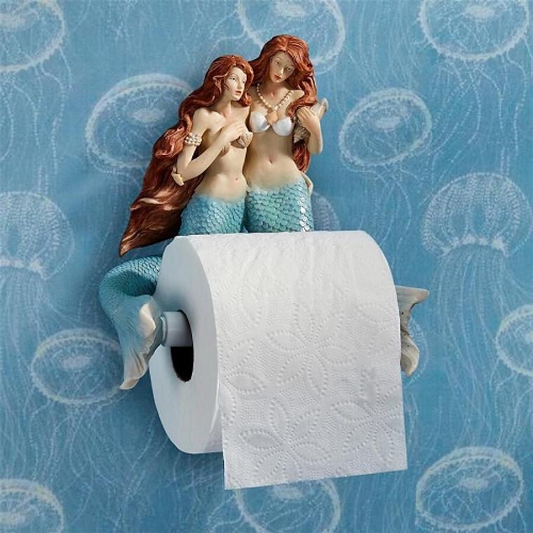 The Mermaids of Flushing Cove Bathroom Toilet Paper Holder