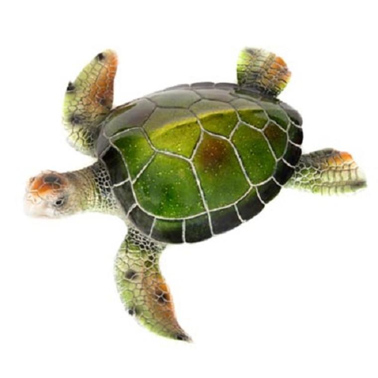 GREEN POLYSTONE TURTLE FIGURINE