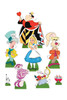 Alice in Wonderland Official Table Top Cardboard Cutouts Pack of 8