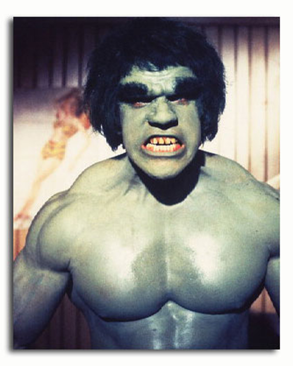 BLACK FRAMED THE INCREDIBLE HULK GLOSSY PRINTED PICTURE 465mm x 365mm